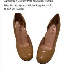 Gorgeous Carmel/Tan Anyi LU Patent Leather Pumps